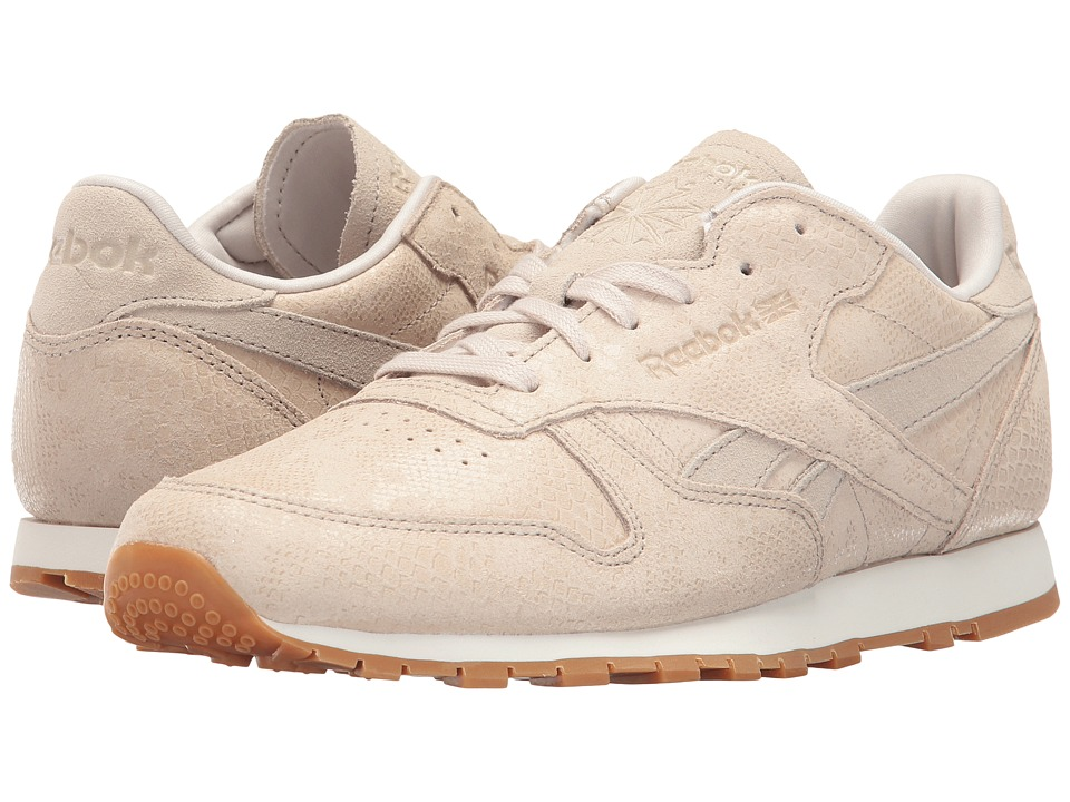 Reebok Lifestyle Classic Leather Exotic Print (Stucco/Chalk/Sand Stone) Women