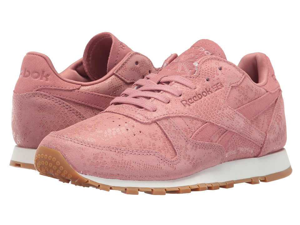 Reebok Lifestyle Classic Leather Exotic Print (Sandy Rose/Chalk) Women