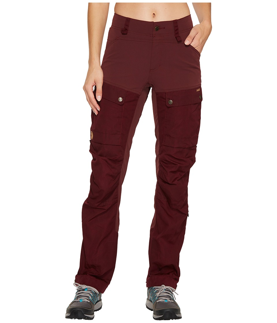 Fjallraven - Keb Trousers (Dark Garnet) Womens Casual Pants