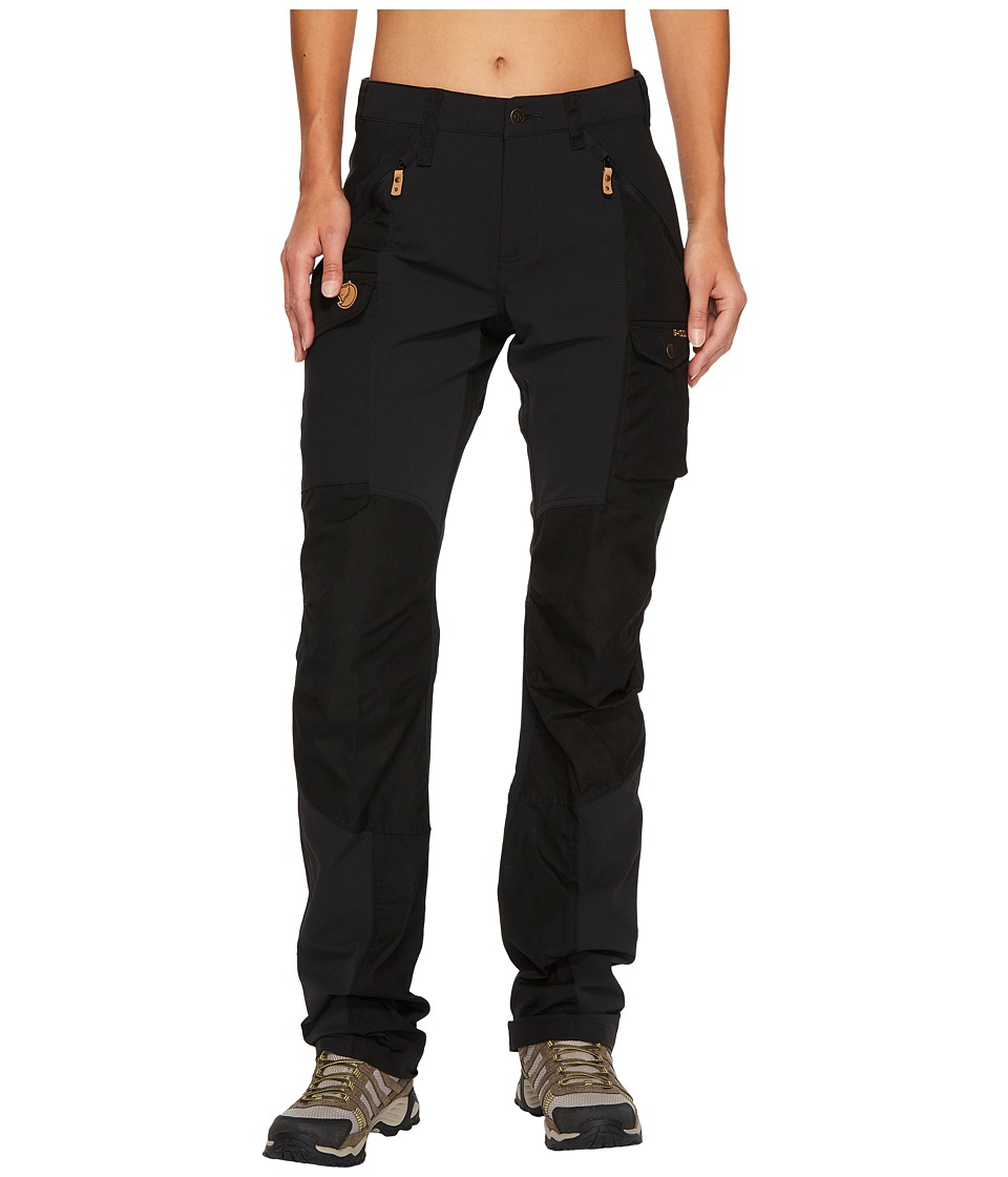Fjallraven - Nikka Curved Trousers (Black) Womens Casual Pants