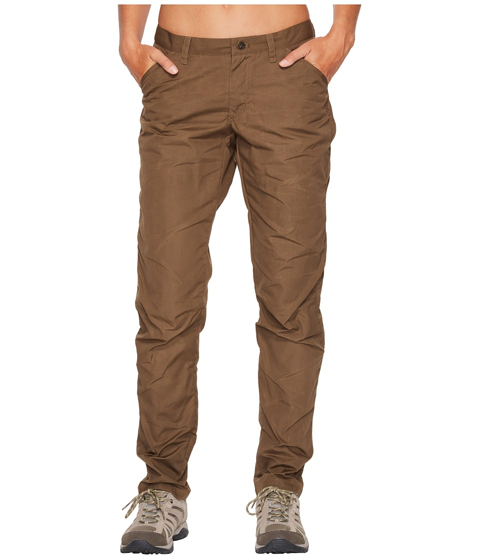 Fjallraven - High Coast Fall Trousers (Khaki) Womens Casual Pants