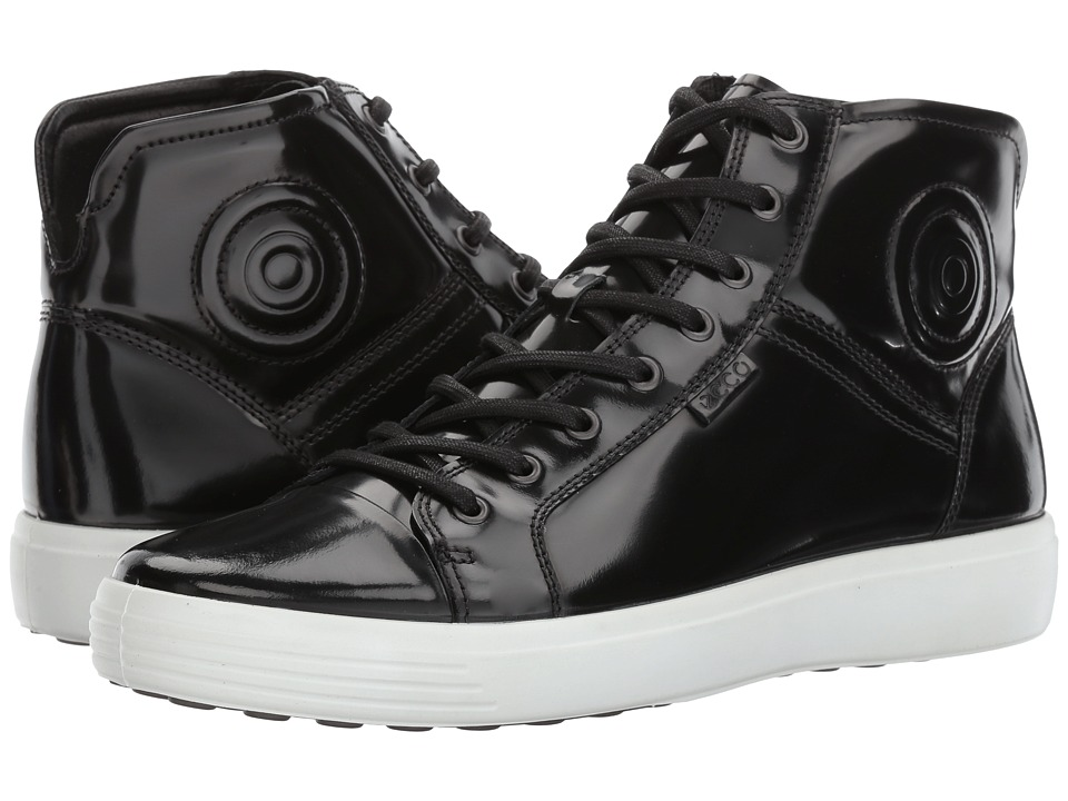 ECCO Soft 7 Luxe Boot (Black Patent) Men