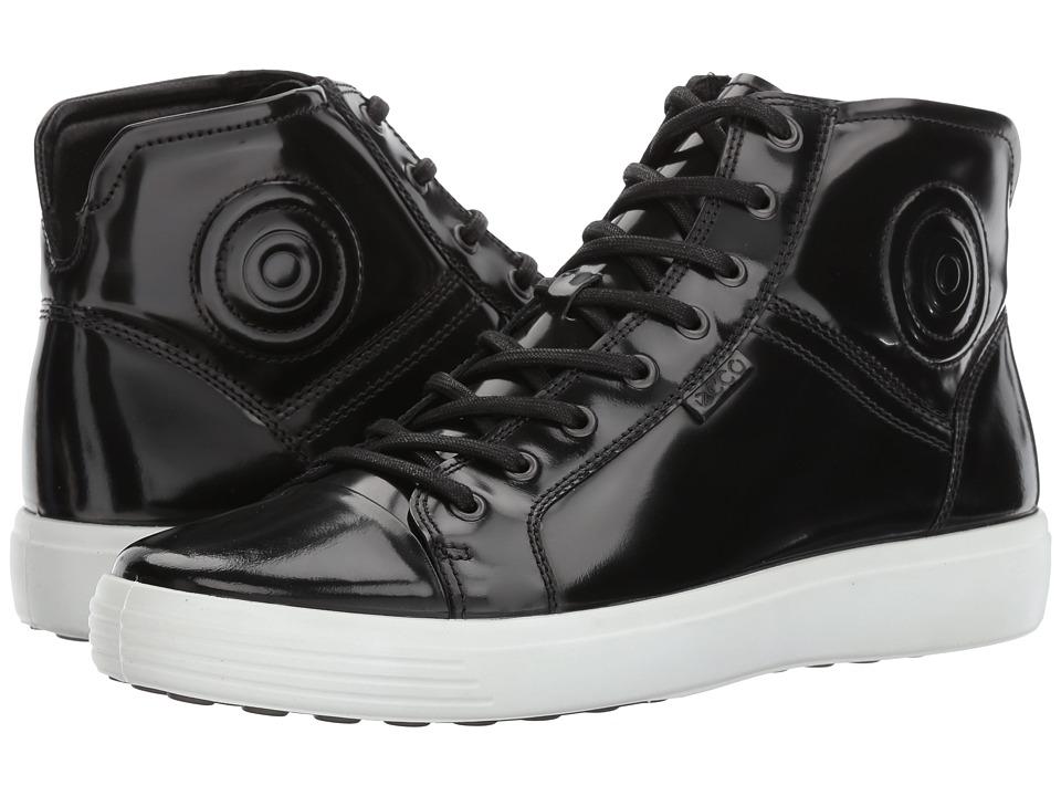 ECCO Soft 7 Luxe Boot (Black Patent) Men