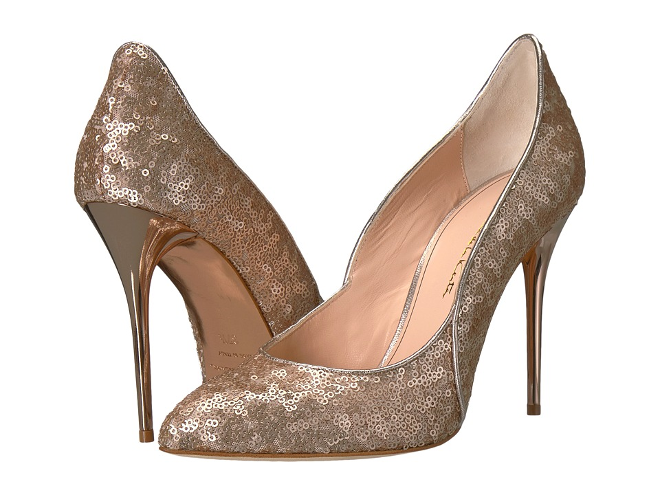 Oscar de la Renta Sabrina 100mm (Rose Gold Sequin) Women