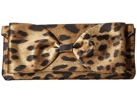 Oscar de la Renta Bow Envelope Clutch - Leopard