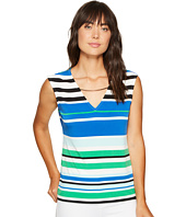 Calvin Klein - Sleeveless Printed Top with Curved Hardware