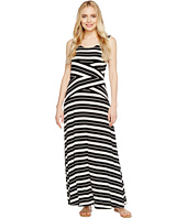 Calvin Klein - Striped Crisscross Maxi Dress