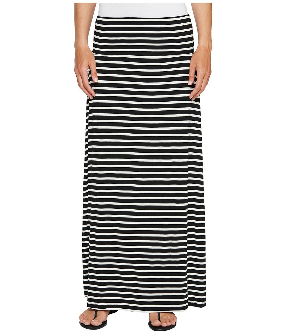 Calvin Klein Striped Maxi Skirt (Black/White) Women