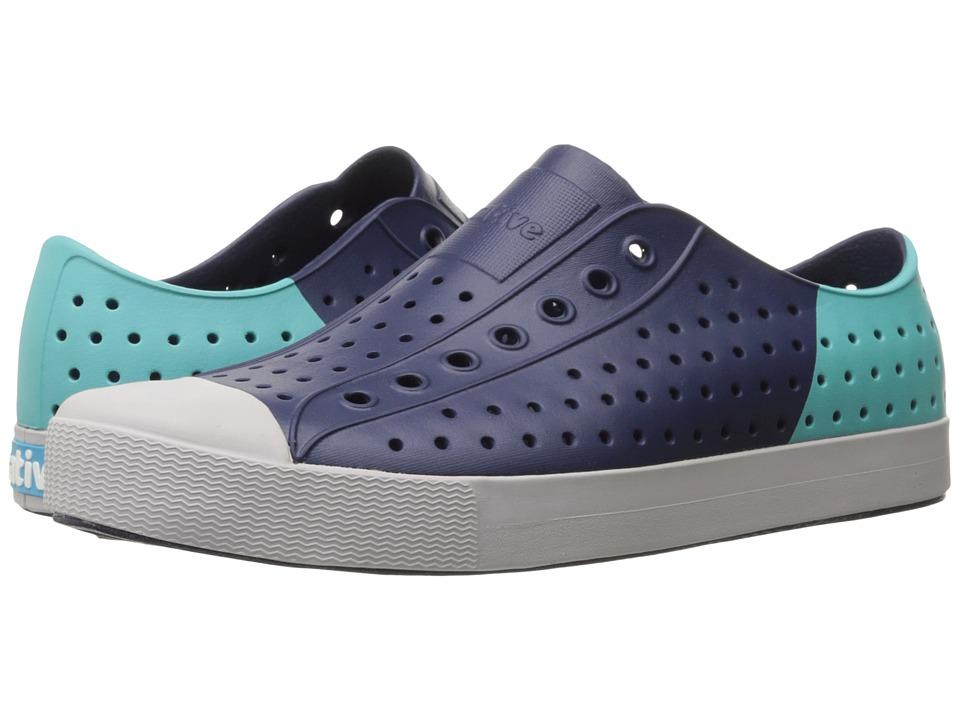 Native Shoes Jefferson (Regatta Blue/Mist Grey/Pool Block) Shoes