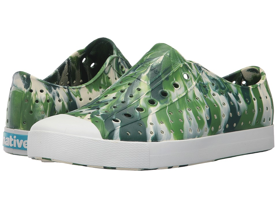 Native Shoes Jefferson (Botanic Green/Shell White/Marbled) Shoes