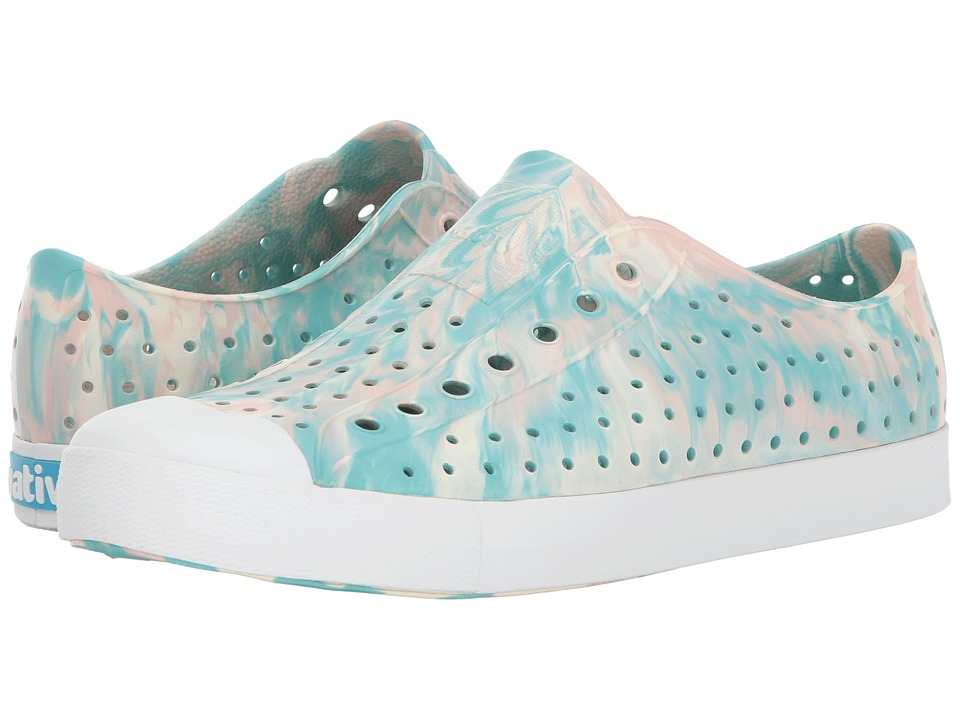 Native Shoes Jefferson (Pool Blue/Shell White/Marbled) Shoes