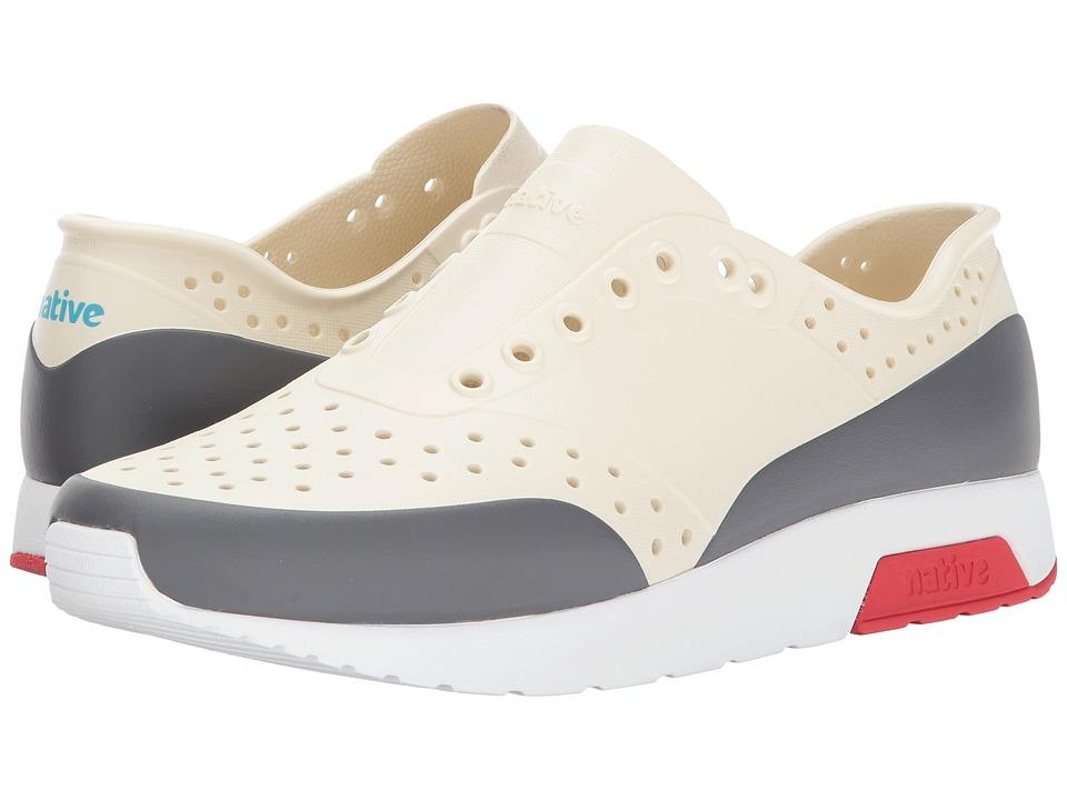 Native Shoes Lennox (Bone White/Shell White/Torch Red/Dublin Block) Athletic Shoes