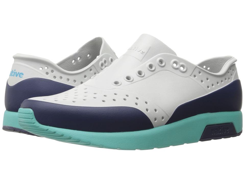Native Shoes Lennox (Mist Grey/Pool Blue/Regatta Blue/Regatta Block) Athletic Shoes
