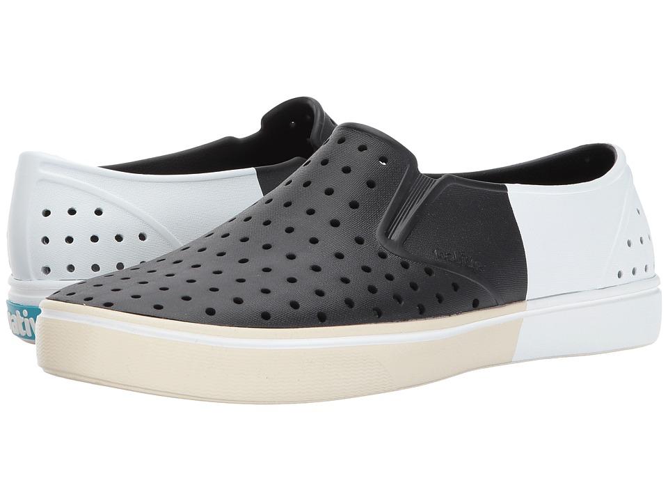Native Shoes Miles (Jiffy Black/Bone White/Shell Block) Athletic Shoes