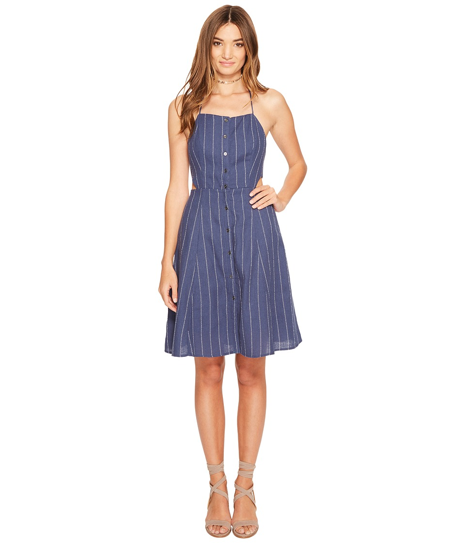 ASTR the Label Paulina Dress (Denim Blue Stripe) Women