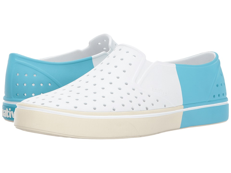 Native Shoes Miles (Shell White/Bone White/Surfer Block) Athletic Shoes