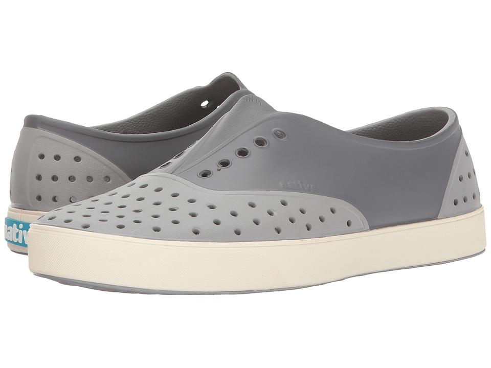 Native Shoes Miller (Pigeon Grey/Bone White/Dublin Block) Slip on Shoes