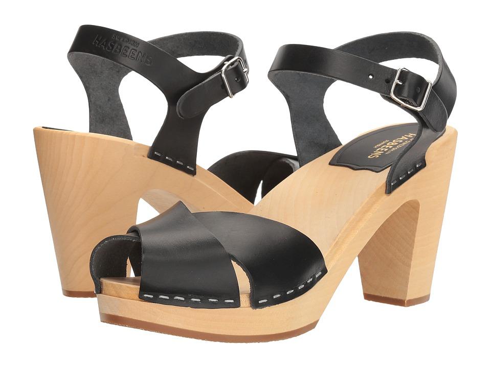 Swedish Hasbeens Merci Sandal (Black) Women's Clog/Mule S...