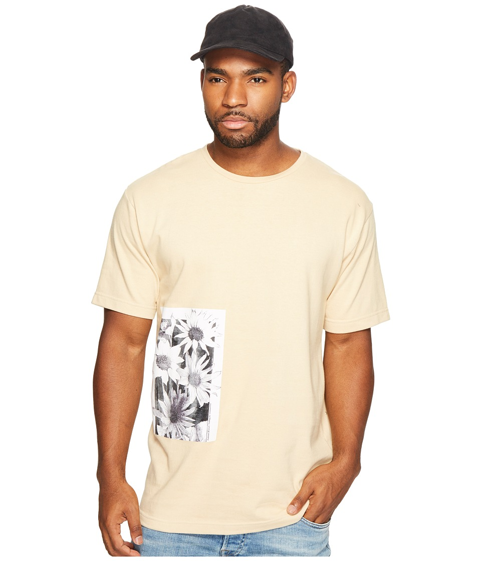 Publish - Daisy Page Print T-Shirt (Tan) Mens Clothing