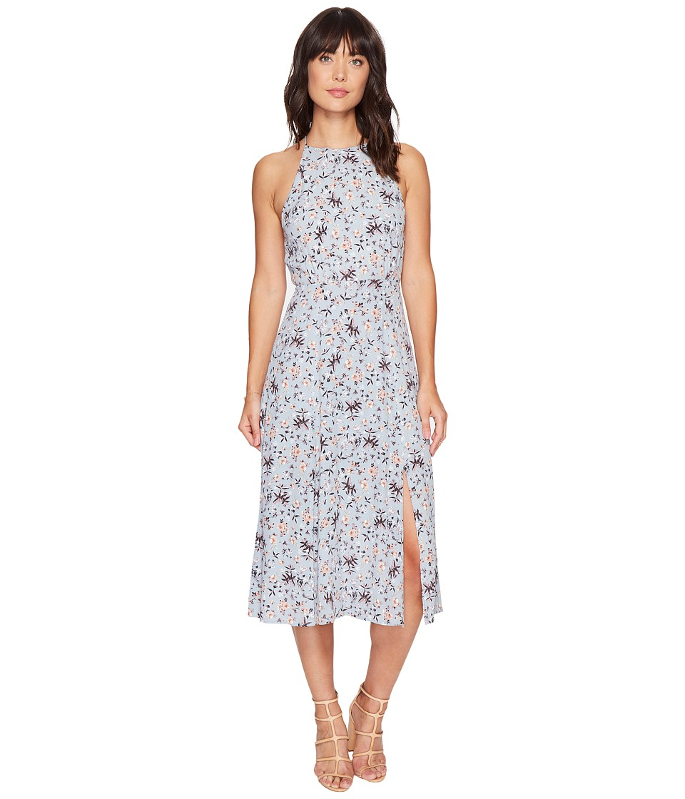 ASTR the Label Pascal Dress (Blue/Peach Floral) Women
