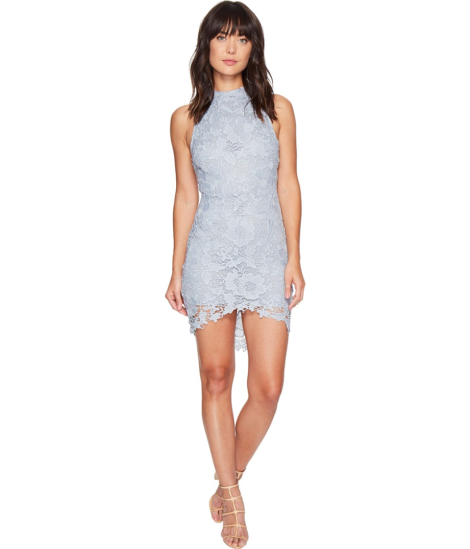 ASTR the Label Samantha Lace Dress (Dusty Blue) Women