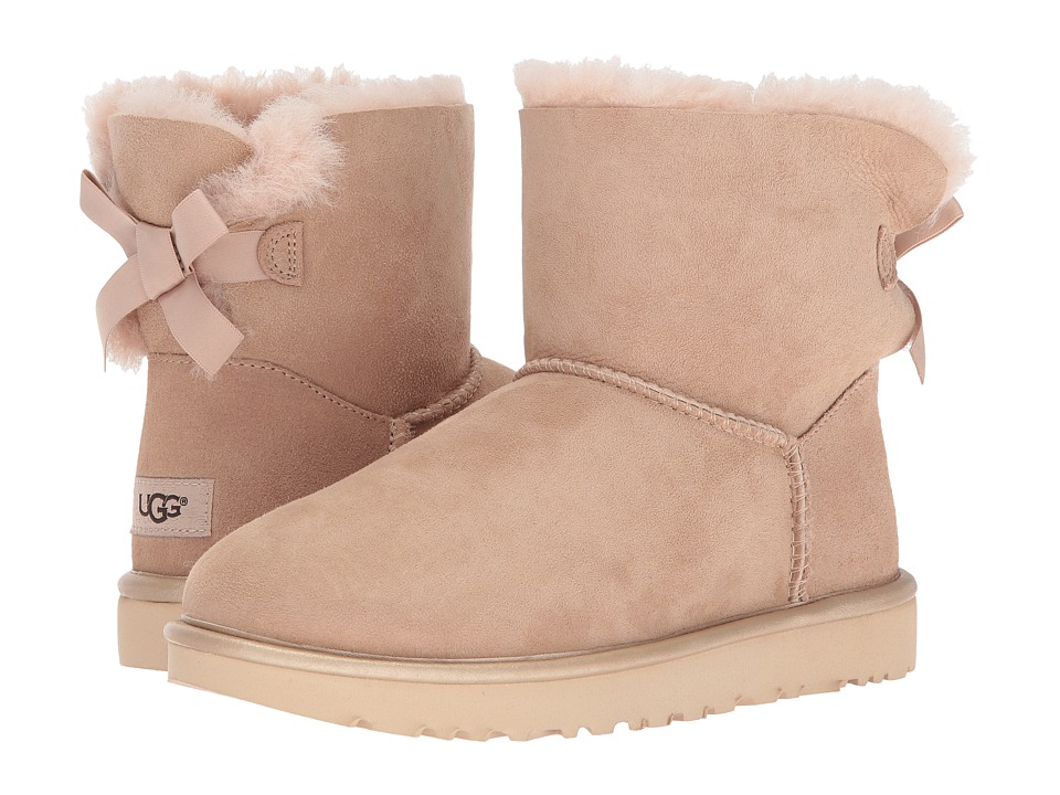 UGG Mini Bailey Bow II Metallic (Driftwood) Women