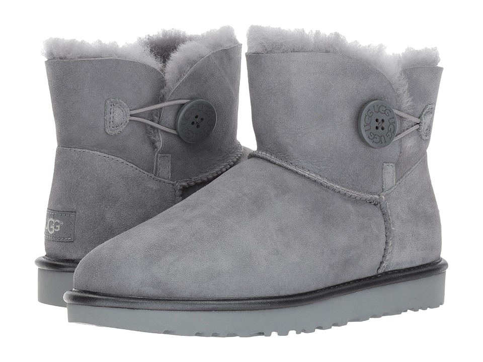 UGG Mini Bailey Button II Metallic (Geyser) Women