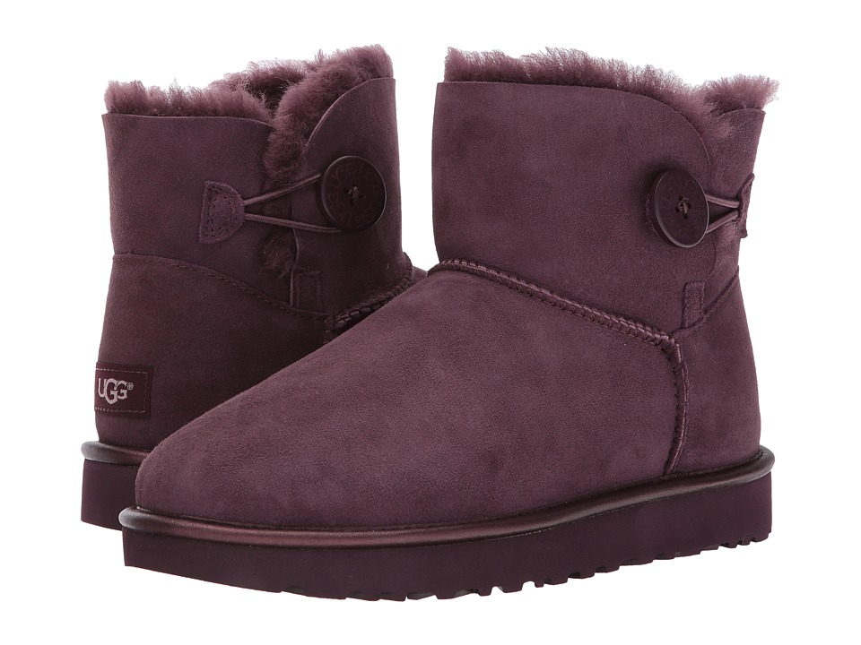 UGG Mini Bailey Button II Metallic (Port) Women