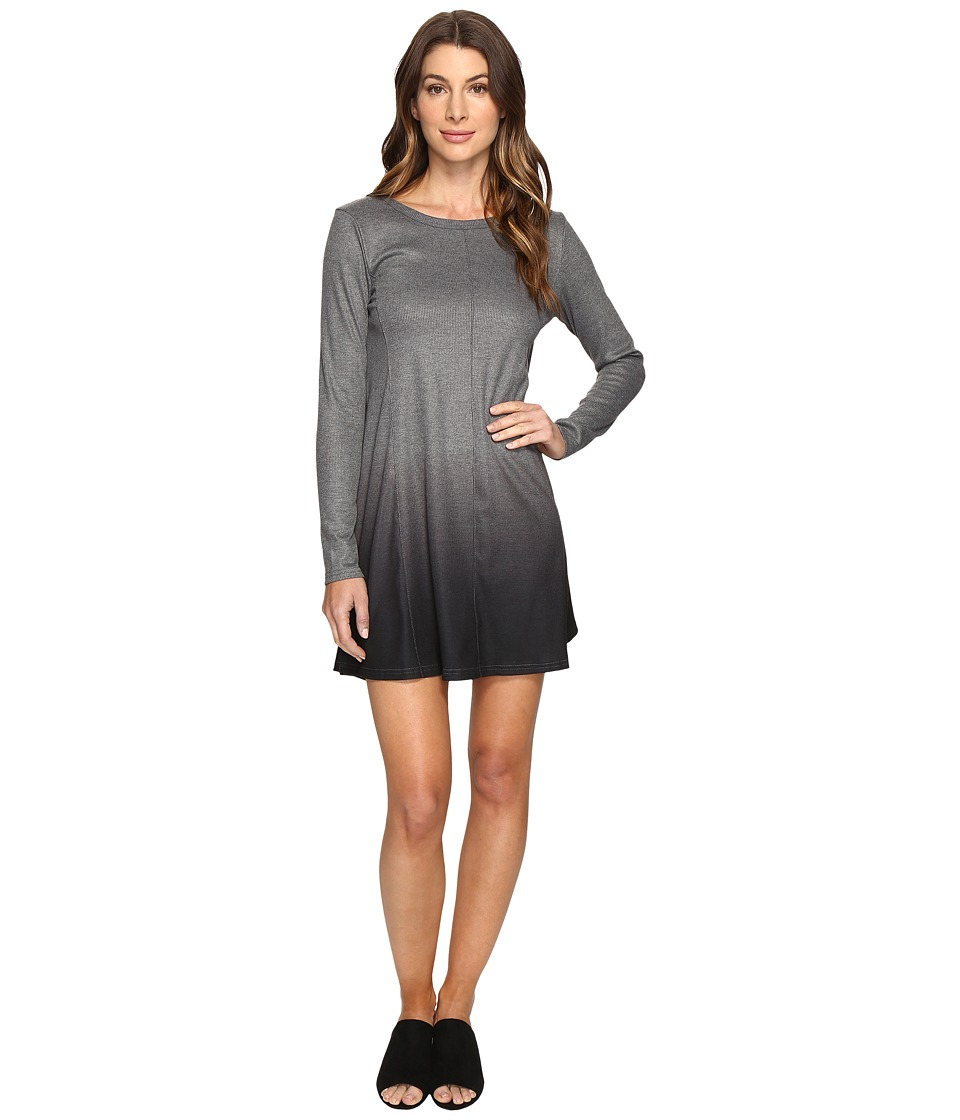 Culture Phit - Leighton Long Sleeve Ombre Dress (Charcoal...