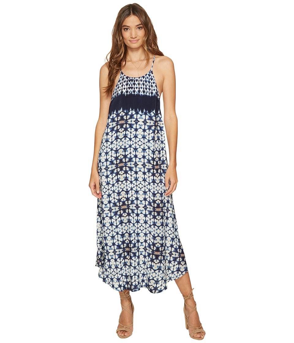 ASTR the Label Delfina Dress (Indigo Tie-Dye) Women