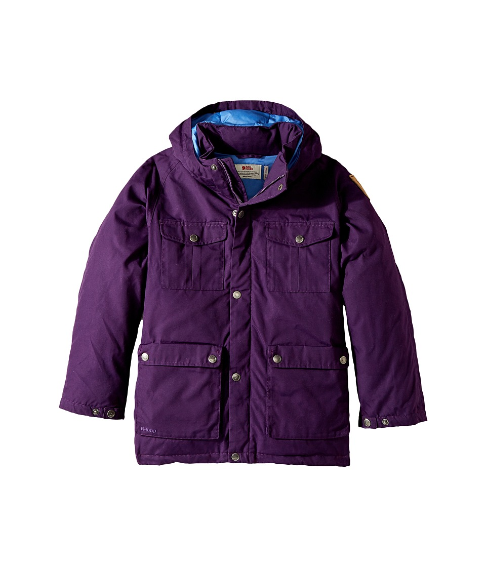 Fjallraven Kids - Greenland Down Parka (Big Kids) (Apine Purple) Kids Coat