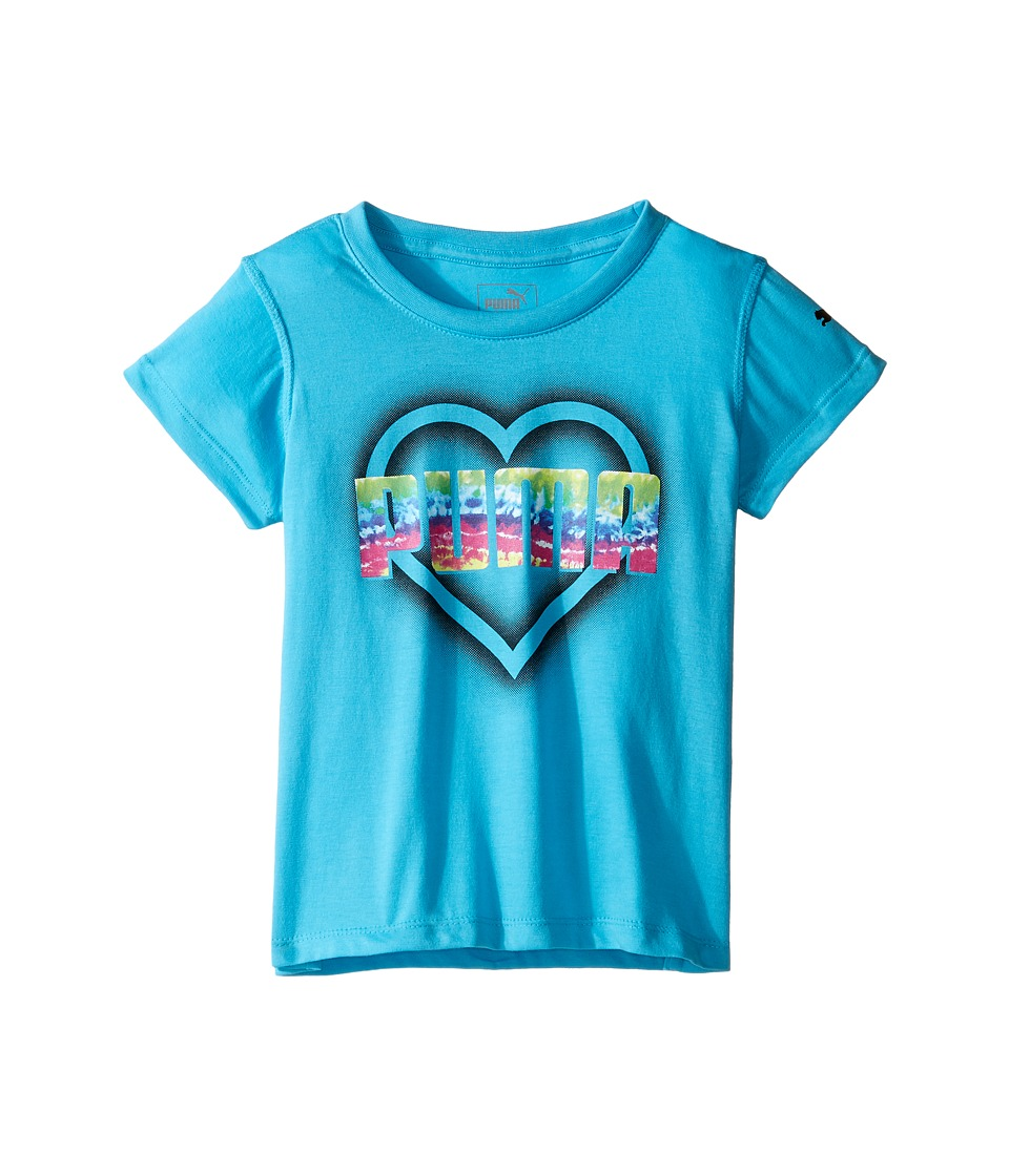 Puma Kids Graphic Tee (Little Kids) (Blue Atoll) Girl