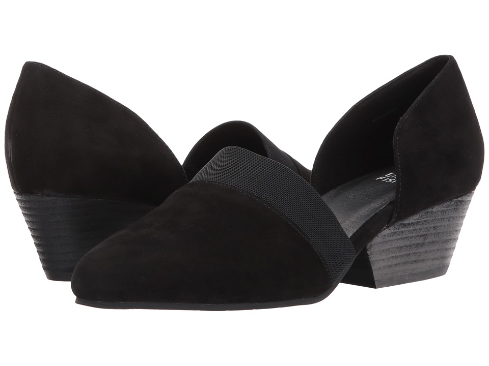 Eileen Fisher Hilly (Black Suede) Women's Shoes