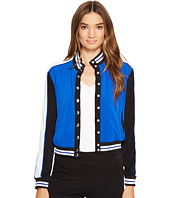 XOXO - Button Up Bomber Jacket w/ Rib