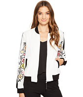 XOXO - Bomber Jacket w/ Embroidered Sleeves