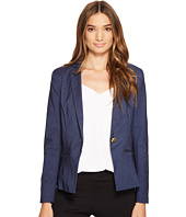 XOXO - Single Button Blazer w/ Welt Pockets