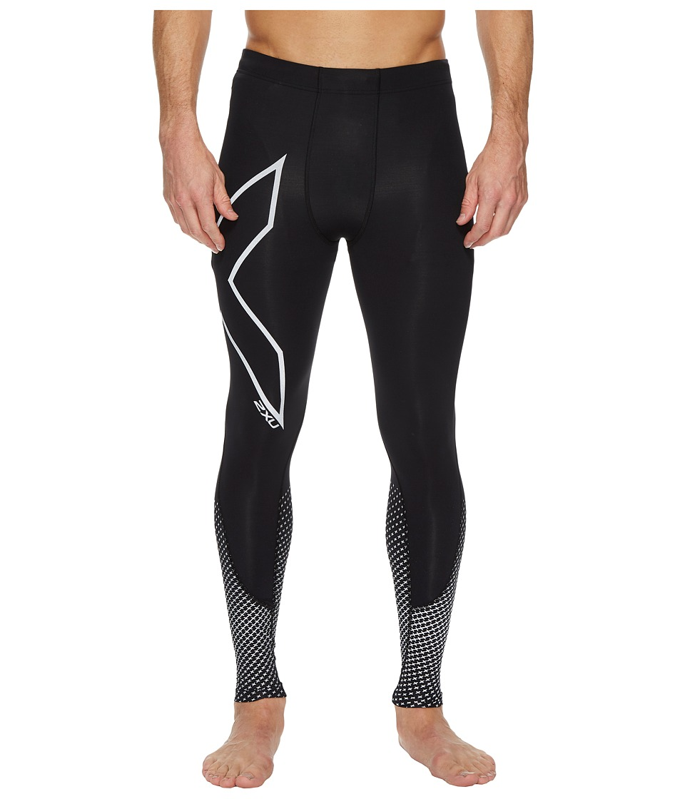 2XU Reflect Compression Tights (Black/Silver Reflective) Men