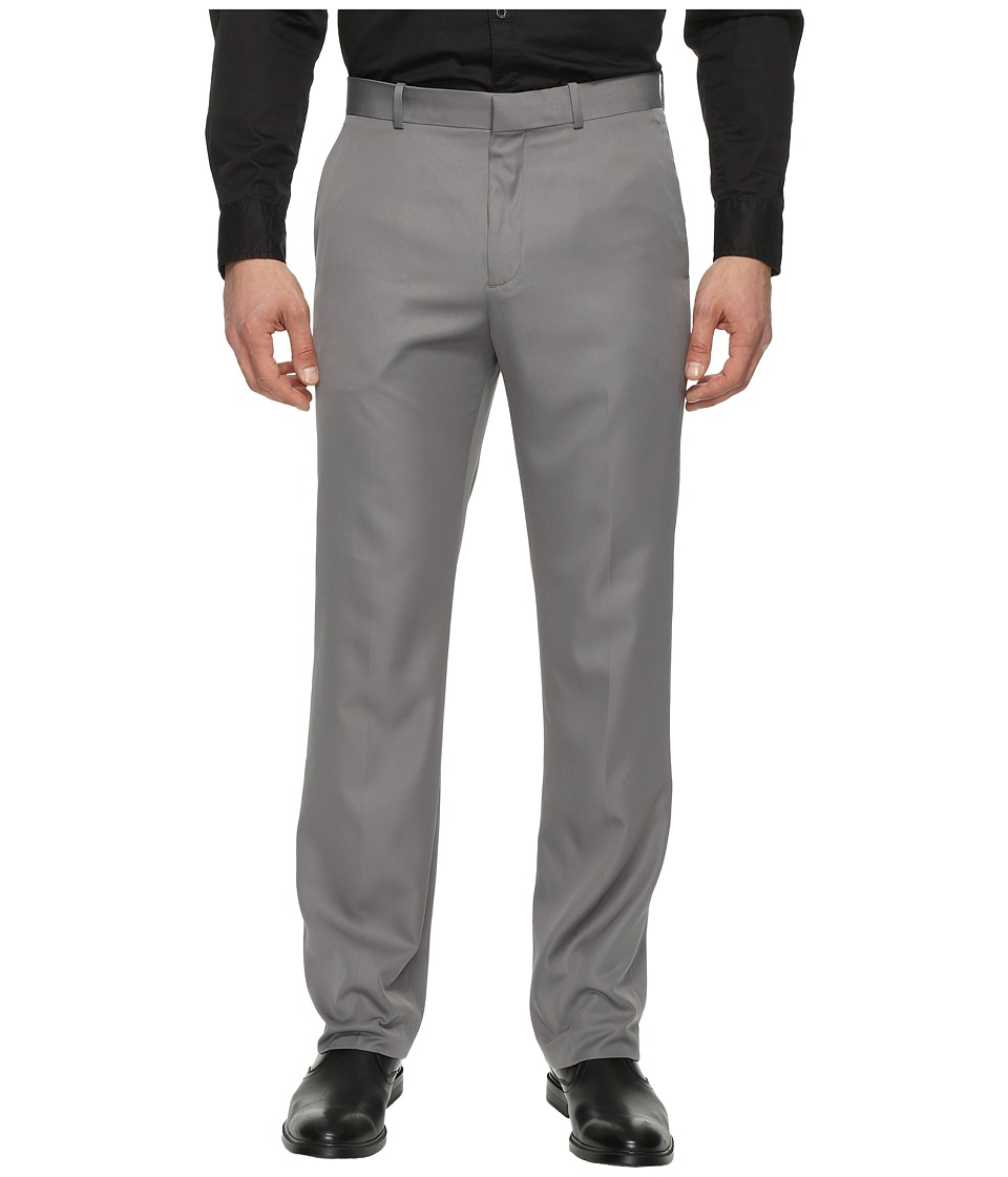 Perry Ellis Portfolio - Solid Performance Portfolio Pant (Alloy) Mens Dress Pants