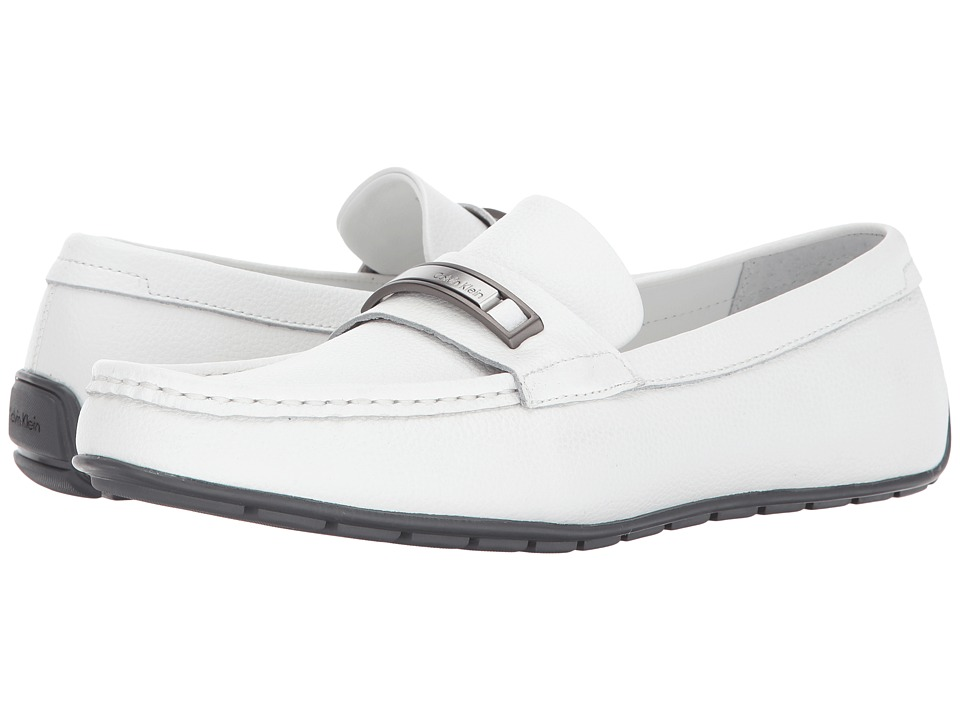 Calvin Klein Irving (White Tumbled Leather) Men
