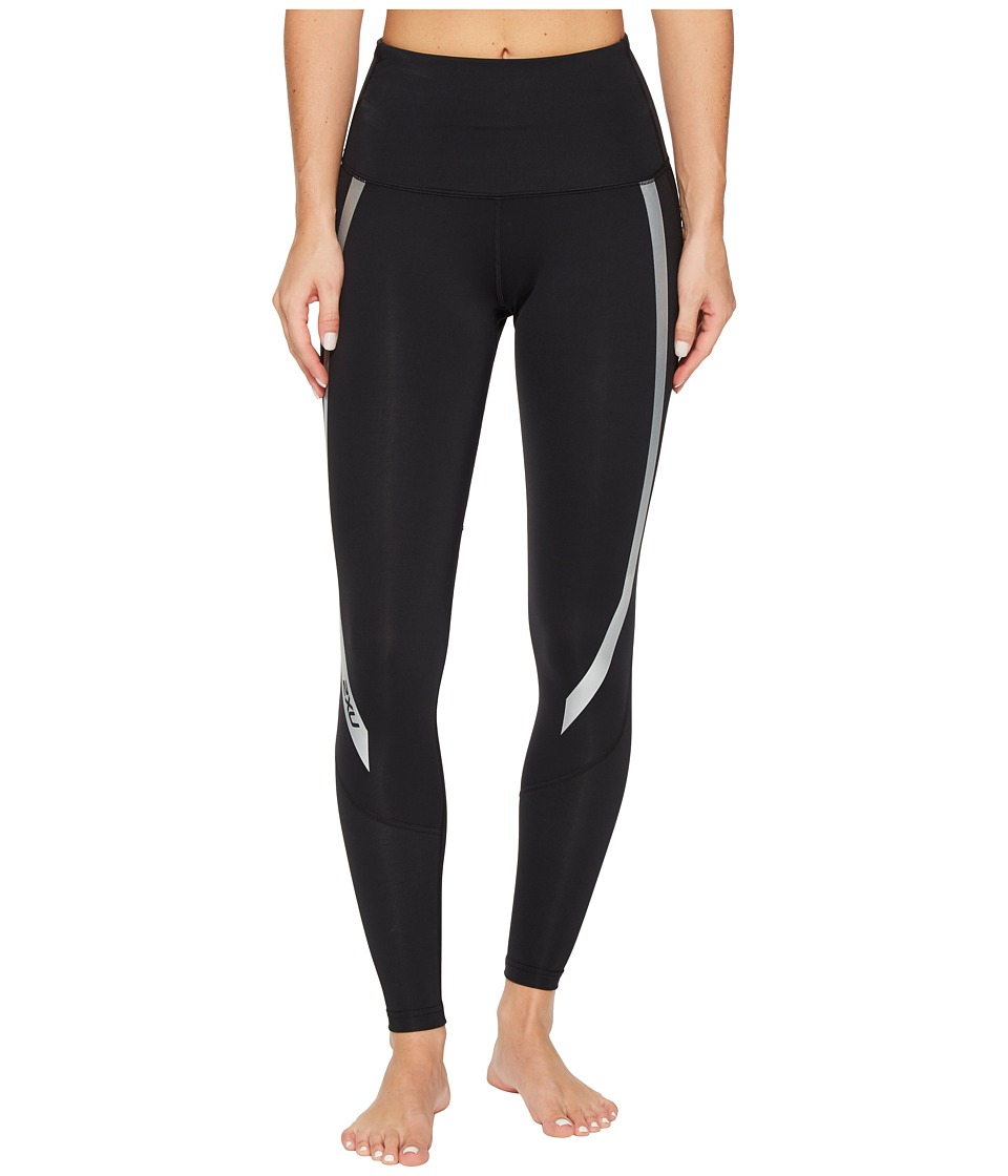 2XU Hi-Rise Compression Tights (Black/Silver) Women