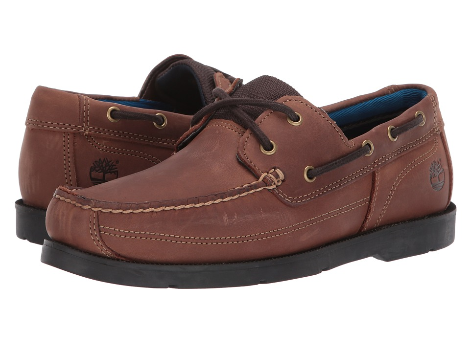 Timberland - Piper Cove Leather Boat Shoe (Brown Oiled Full Grain) Men's Lace up casual Shoes