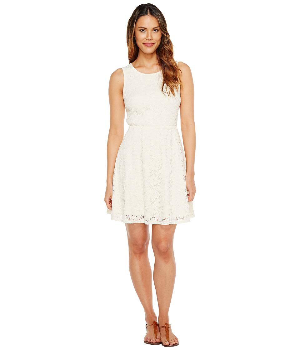 Stetson 1057 Floral Lace Tank Dress (White) Women