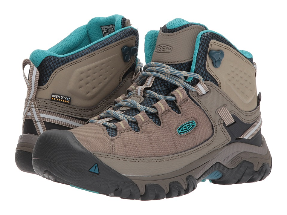 Keen Targhee Exp Mid WP (Brindle/Blue Coral) Women's Shoes