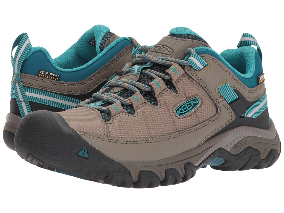 Keen Targhee Exp WP (Brindle/Blue Coral) Women's Shoes