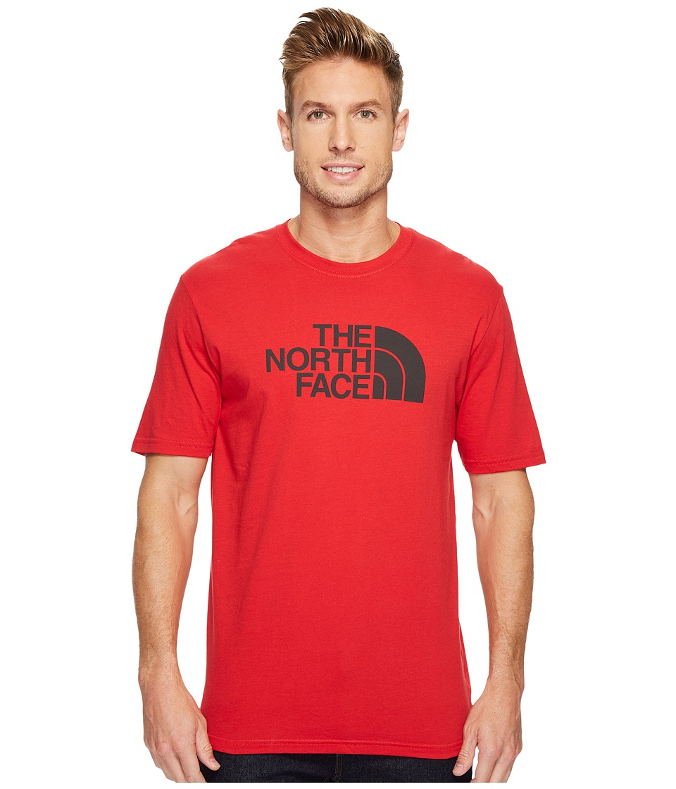 The North Face Short Sleeve 1/2 Dome Tee (TNF Red/Asphalt Grey) Men