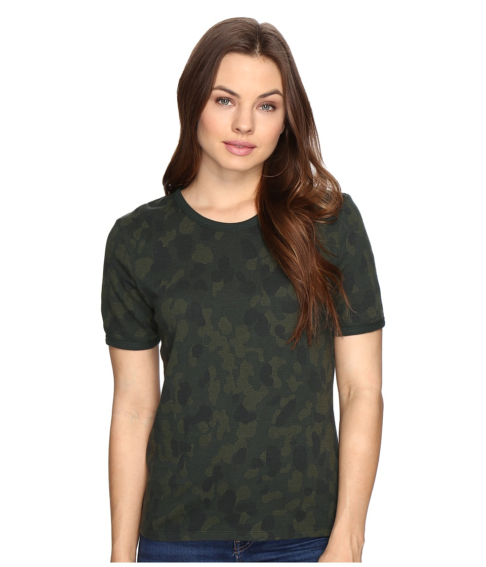 Obey Fillmore Ringer Top (Army Multi) Women