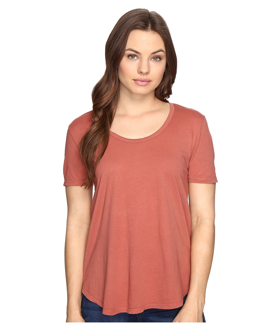 Obey Madison Scoop Neck Tee (Rose Dawn) Women