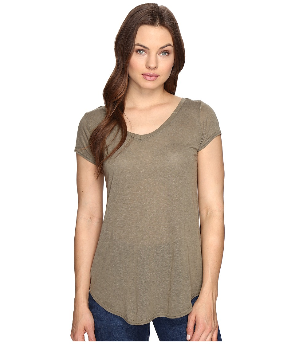 Obey Lou V-Neck Tee (Olive) Women