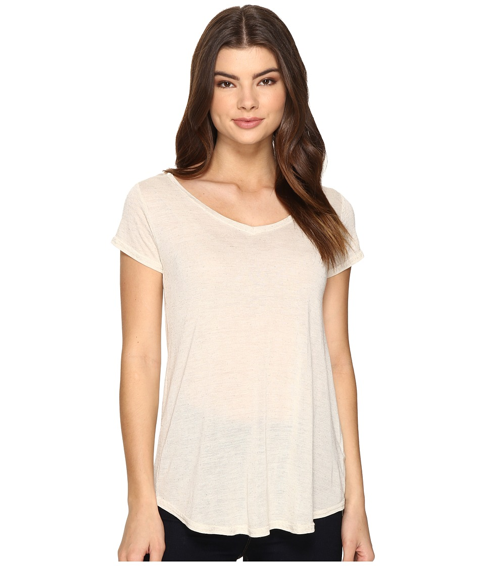Obey Lou V-Neck Tee (Cobblestone) Women