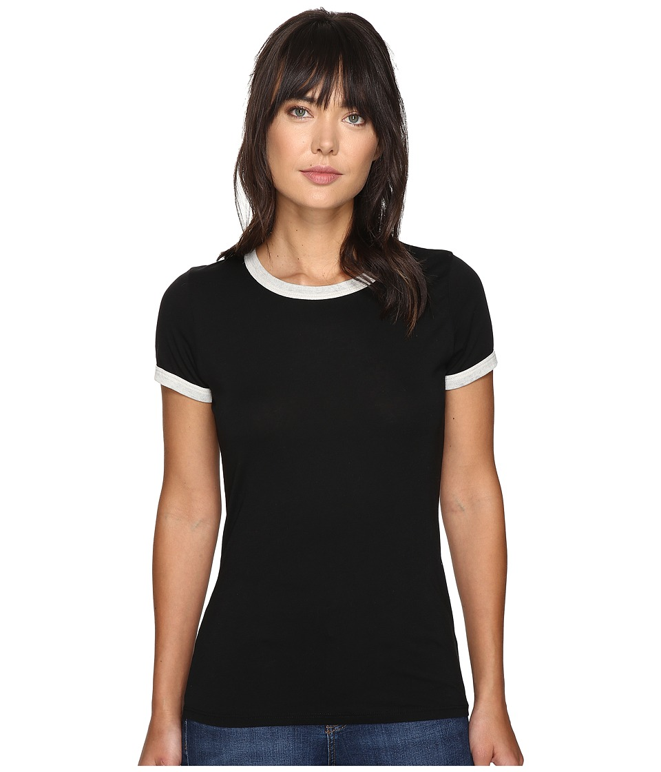 Obey Sold Out Ringer Tee (Black/Creme) Women